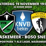 2e ronde beker: Waskemeer - BOSO Sneek