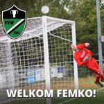 Doelman Femko de Vries (Nieuw Roden zo) naar Waskemeer